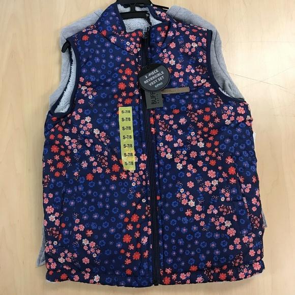 Camo, Small-7//8 David Bitton Buffalo Boys Reversible Vest